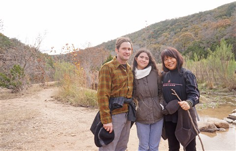dork with wife and daughter at lost maples state park