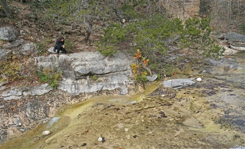 kat on rock at lost maples texas state park dec 2015