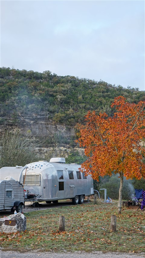 airstream camping at lost maples state park texas fall dec 2015
