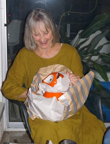 orange fox cookie jar