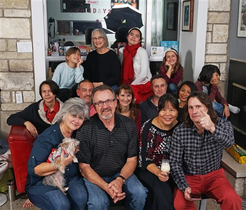 schuster family portrait christmas 2018