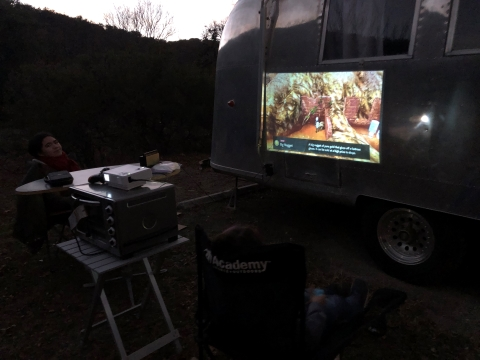 camping outdoor projector