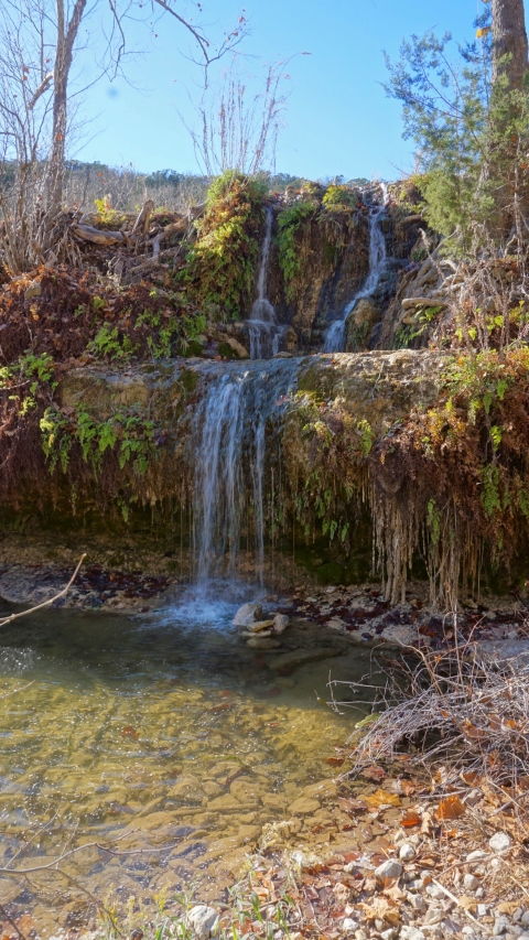 water falls lost maples state park texas
