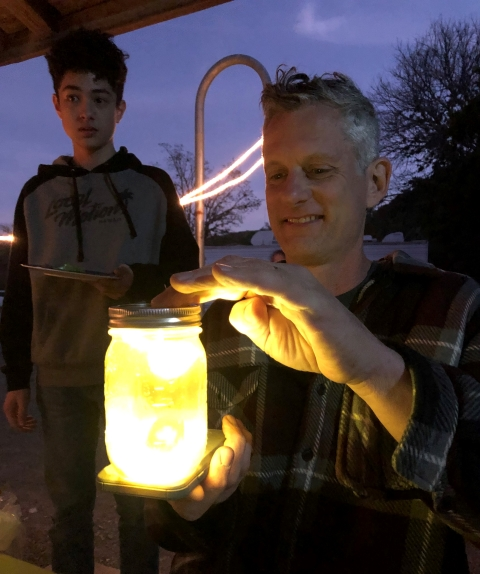 pre mixed margarita mason jar lantern