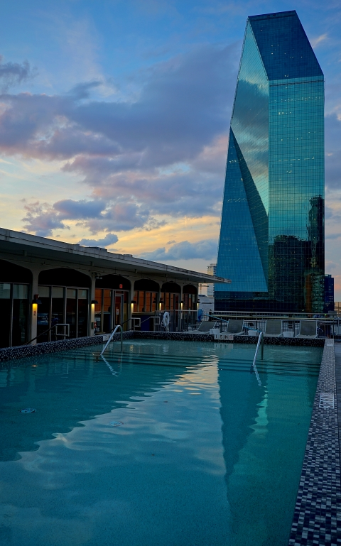 mayflower stay alfred rooftop pool downtown view i. m. pei