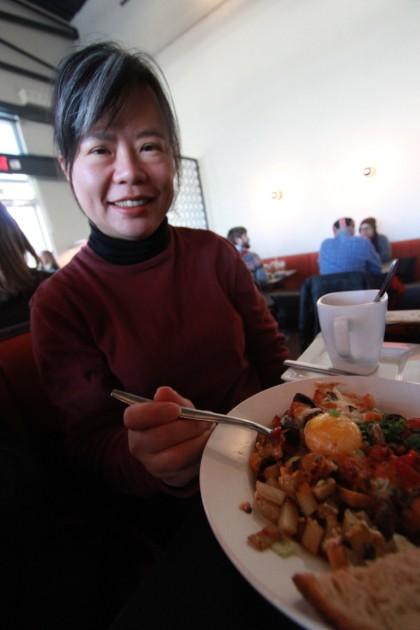 vegetarian hash at 24 diner austin