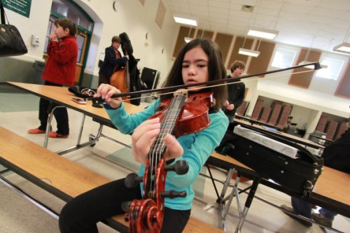 violin test at westridge middle school