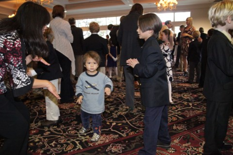 baby gets in on austin cotillion action