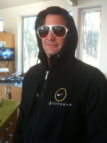 gowalla livestrong nike hoodie prize