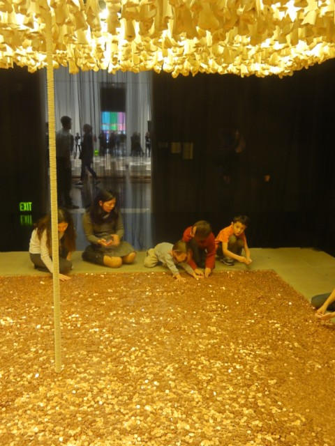 pennies bones and comunion wafers at blanton museum of art