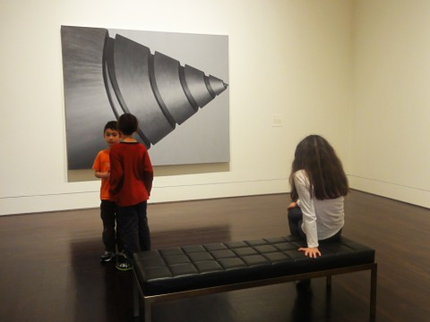 screwed at the blanton museum of art, tension in the room.
