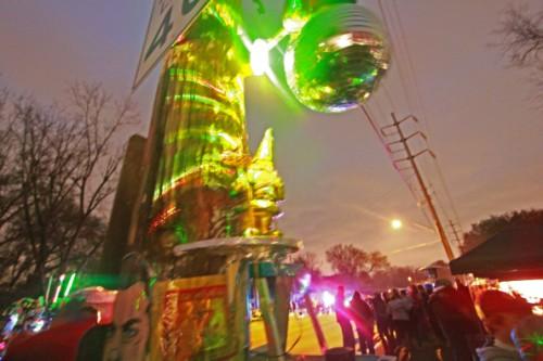 space #83 disco gnome of gemini mardi gras parade