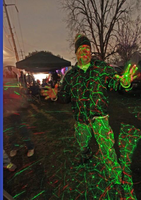 laser light show of space #83 shreveport mardi gras gemini parade