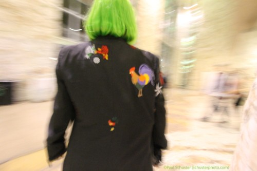 armani jacket with embroidered rooster cock patches