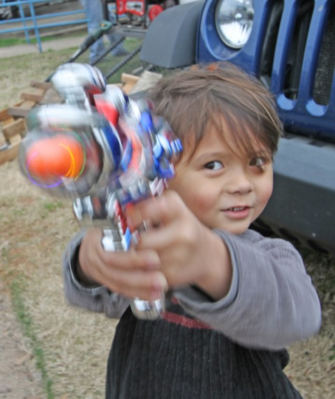 space blaster gun LED mardi gras