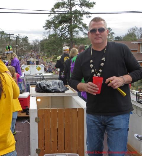 mardi gras parade higland float rider