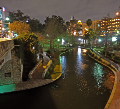 grand hyatt san antonio riverwalk view at night