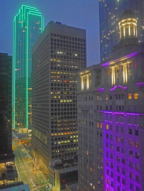 dallas skyline from the adolphus hotel