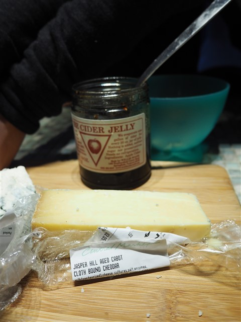 jasper hill aged clothbound cheese and cider jelly vermont in wimberley