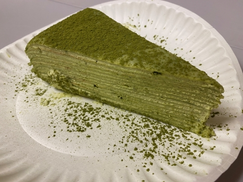 matcha green tea layer cake