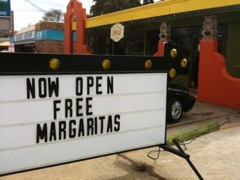 el chile free margaritas