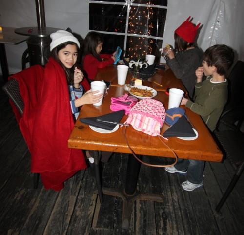 kid's table at paggi