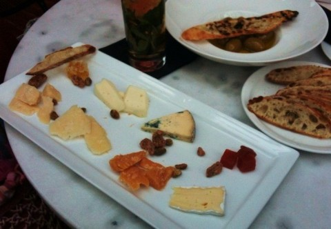 cheese plate at paggi house