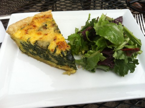 leaning pear quiche wimberley restaurant