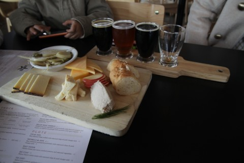 cheese plate at black star coop brew pub austin
