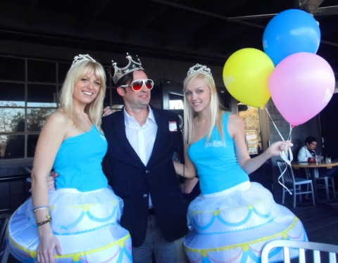three olives vodka cake girls at gibson's yelp elite party
