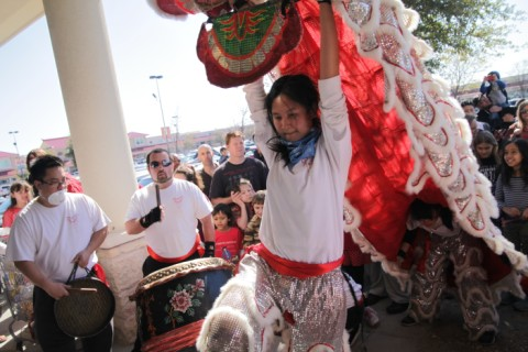 texas lion dragon dancers
