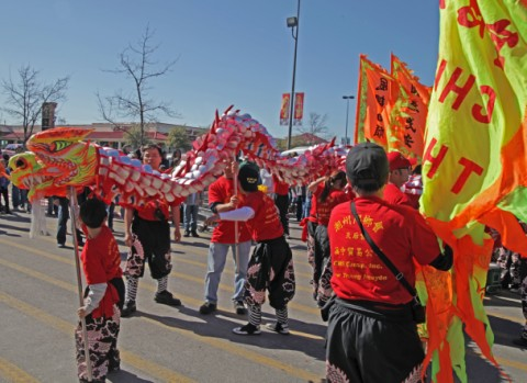 dragon dancers austin chinatown chinese new years