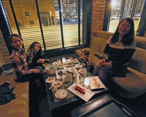family sushi meal at imperia austin downtown