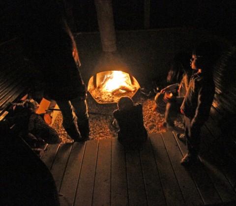 wimberley cabin fireplace