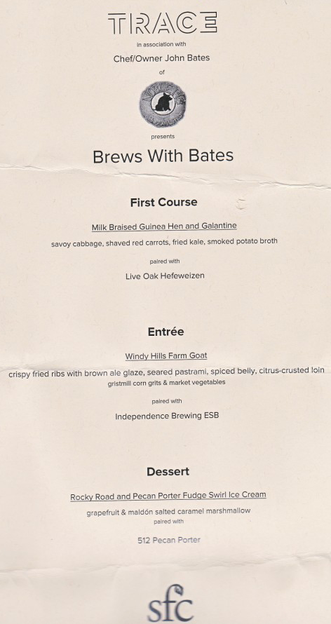 noble pig john bates trace brews with bates menu
