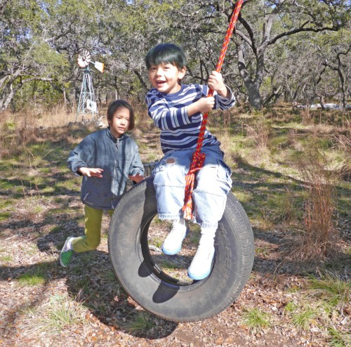 wimberley tire rope swing fun