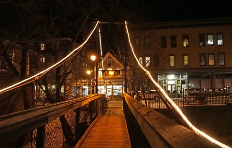 foot bridge over the lamouille river hardwick vermont vt