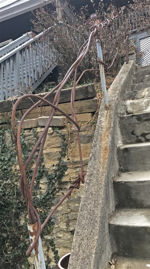 paul schuster metal sculpural handrail 3341 falls road baltimore md hampden