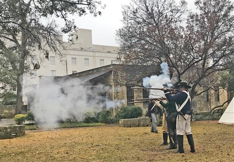 alamo musket demonstration