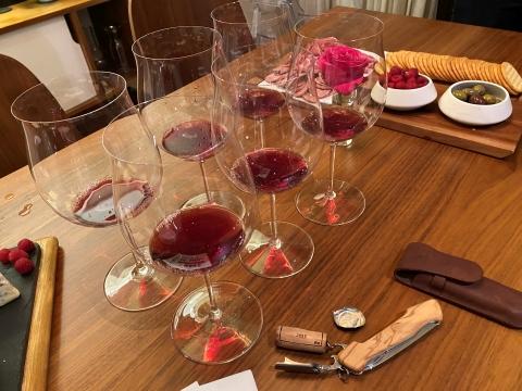 riedel burgundy wine glass dinner