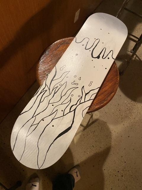 skateboard deck art