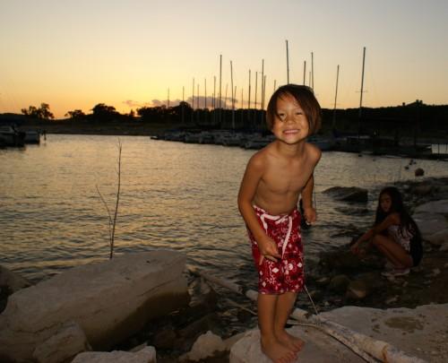 golden boy at lake travis