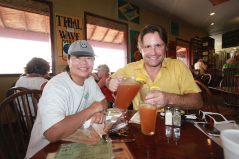happy hour at padre island brewing co