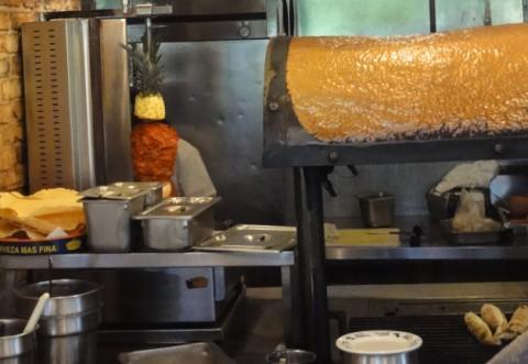 tacos al pastor rotisserie