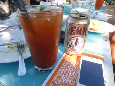 pearl beer michelada at the monterey