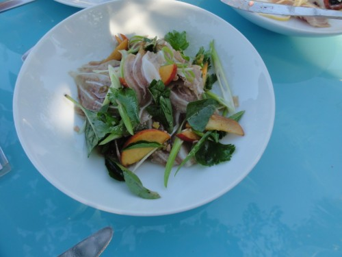 pig ear salad at monterey