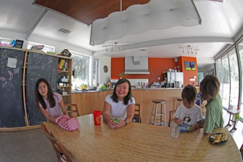 fisheye view at the table