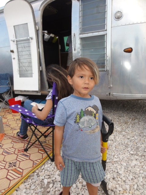 boy with canned ham t-shirt airstream spi