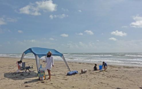 shade tent beach spi south padre island tx texas