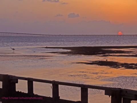 laguna madre sunset from koa pier 19 spi south padre island texas